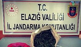 Jandarma ekipleri, uyuşturucu tacirini 2 kilo esrarla  yakaladı