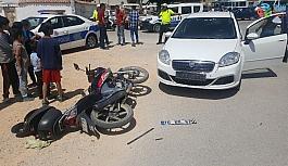 Karaman'da otomobil ile motosiklet çarpıştı: 1 yaralı