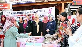 Erdemli'de meme kanseri farkındalık etkinlikleri