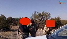 Avcılık belgesi olmadan avlanırken yakalandılar