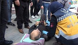 Yaşlı adamın ayağını kırıp kaçtı