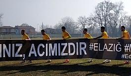 Edirnespor'dan Elazığ'a anlamlı bağış