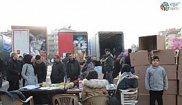 Karaman'da Elazığ ve Malatya'ya 4 tır dolusu yardım