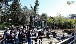 Bodrum Bitez'te taşkınların önüne geçildi