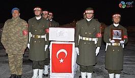 Çukurca'da şehit olan askerin naaşı memleketine gönderildi