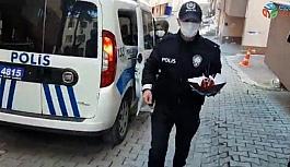 Bolu'da polis ekiplerinden minik çocuğa doğum günü sürprizi