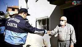 Denizli Büyükşehir Belediyesi sokağa çıkma kısıtlamasında görev başında