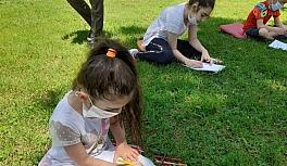 Büyükşehir Belediyesinden çocuklara resim etkinliği