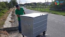 Ergene'de çöp konteynırları bakıma alındı
