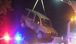 Otomobil ile kamyonet çarpıştı 1 yaralı