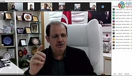 Rektör Coşkun, Türkiye Gençlik Vakfı Yönetim Kuruluyla telekonferansa katıldı