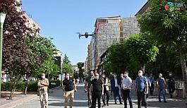 Siirt'te drone ile maske denetimi yapıldı