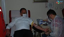 """Tokat'ta """"İyilik Kanımızda Var"""" kampanyasına destek"""