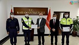 Vali Meral, jandarma ve poliste başarılı personeli ödüllendirdi