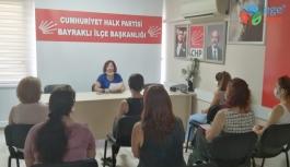 CHP Bayraklı Kadın Kollarından açıklama