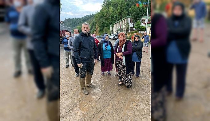 Milletvekili Hasan Turan'da afet bölgesine giderken mahsur kaldı