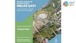 Yarışmada son proje teslim tarihi 15 Eylül Meles Çayı ve çevresi İzmir'in ekolojik omurgası olacak