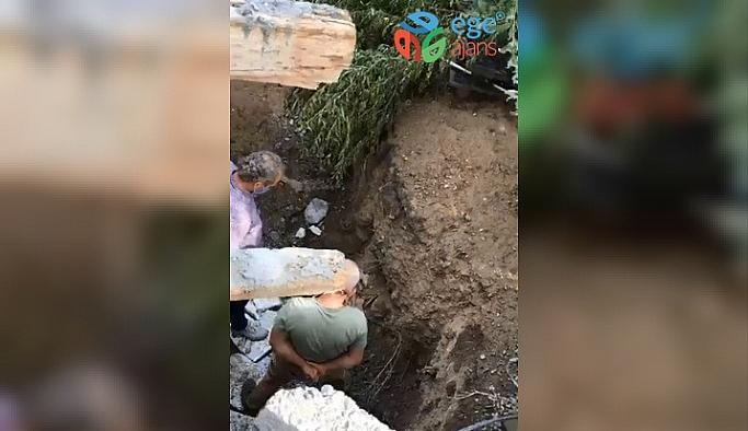 İnşaat alanındaki poşet içinde insan kemikleri bulundu