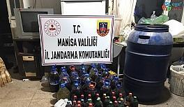Manisa'da 4 bin 200 litre sahte içki ele geçirildi