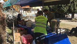 Depremzedeler için Bergama Belediyesi'nden stant