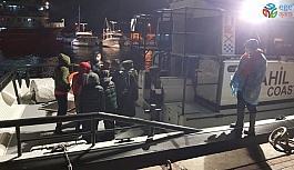 İzmir açıklarında 9 düzensiz göçmen kurtarıldı