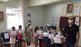 Gazi Emet İlkokulu öğrencileri fidan dikti