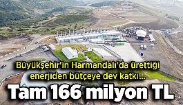 Büyükşehir'in Harmandalı'da ürettiği enerjiden bütçeye dev katkı... Tam 166 milyon TL