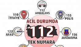 BÜTÜN ACİL NUMARALAR 112'DE BİRLEŞİYOR