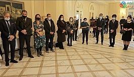Hocalı Katliamı'nda hayatını kaybedenler için Azerbaycan'ın Paris Büyükelçiliği'nde anma töreni düzenlendi