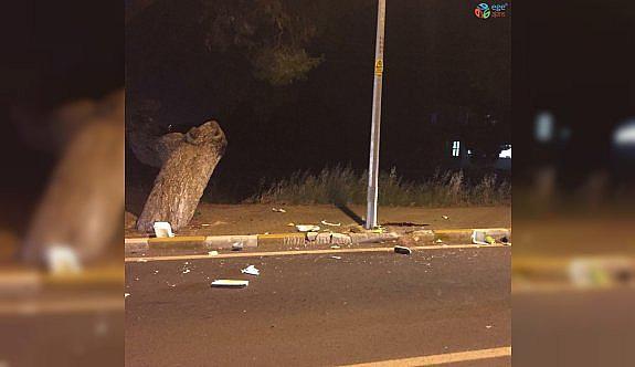 Urla'da motosiklet sürücüsü kazada...