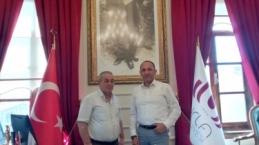 Urla belediye Başkanı Burak Oğuz'u EGE AJANS olarak ziyaret ettik