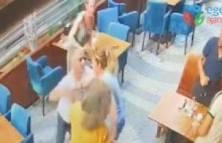 Kafede eski eş dehşeti! Önüne gelene saldırdı