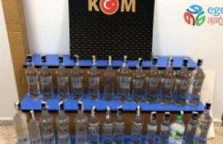 Keşan'da 27 şişe sahte alkol ele geçirildi