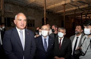 Bakan Ersoy yerinde açıkladı: Tekel Fabrikası...