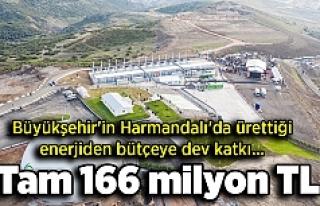 Büyükşehir'in Harmandalı'da ürettiği...