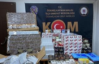 İzmir'de kilolarca kaçak tütün ele geçirildi