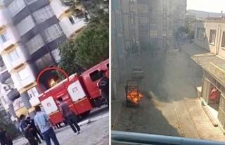 İzmir'de Suriyelilere ait ev ve araçlar yakıldı