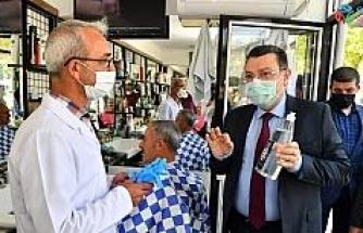 Ortahisar'dan berber ve kuaförlere sağlık desteği