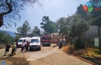 Marmaris'te orman yangını: Bir itfaiye eri şehit!