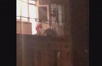İzmir'de koca dehşeti...Genç kadını çocuklarının gözü önünde böyle darp etti